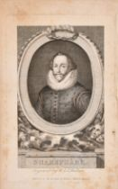 A small collection of old master etchings along with later portraits, etchings, variously inscribed,