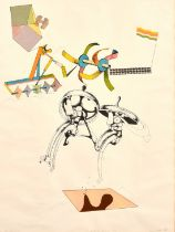 """Colin Lancelly (1938-2015) Australian, screen print, artist's proof 1 of 10, signed and dated, 30"""" x"""