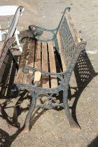 A garden bench.