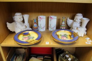Decorative china and other items.