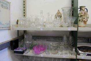 A good collection of household and decorative glassware.
