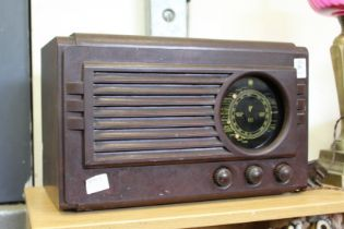 A Bakelite radio.