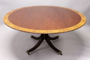 A SUPERB LARGE, GEORGIAN STYLE MAHOGANY CIRCULAR TOP BREAKFAST TABLE by ARTHUR BRETT, NORWICH,with
