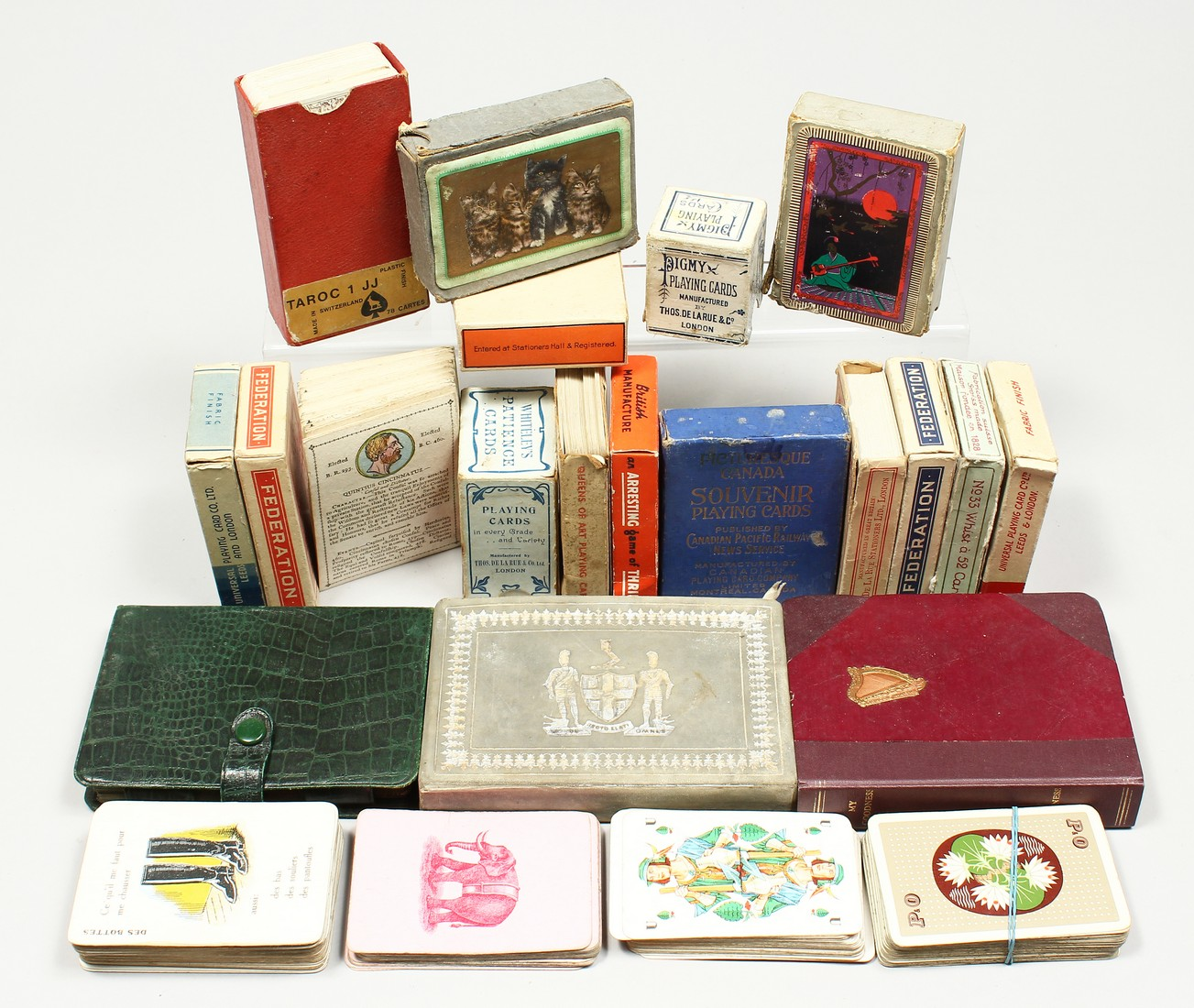 A COLLECTION OF VARIOUS PLAYING CARDS.