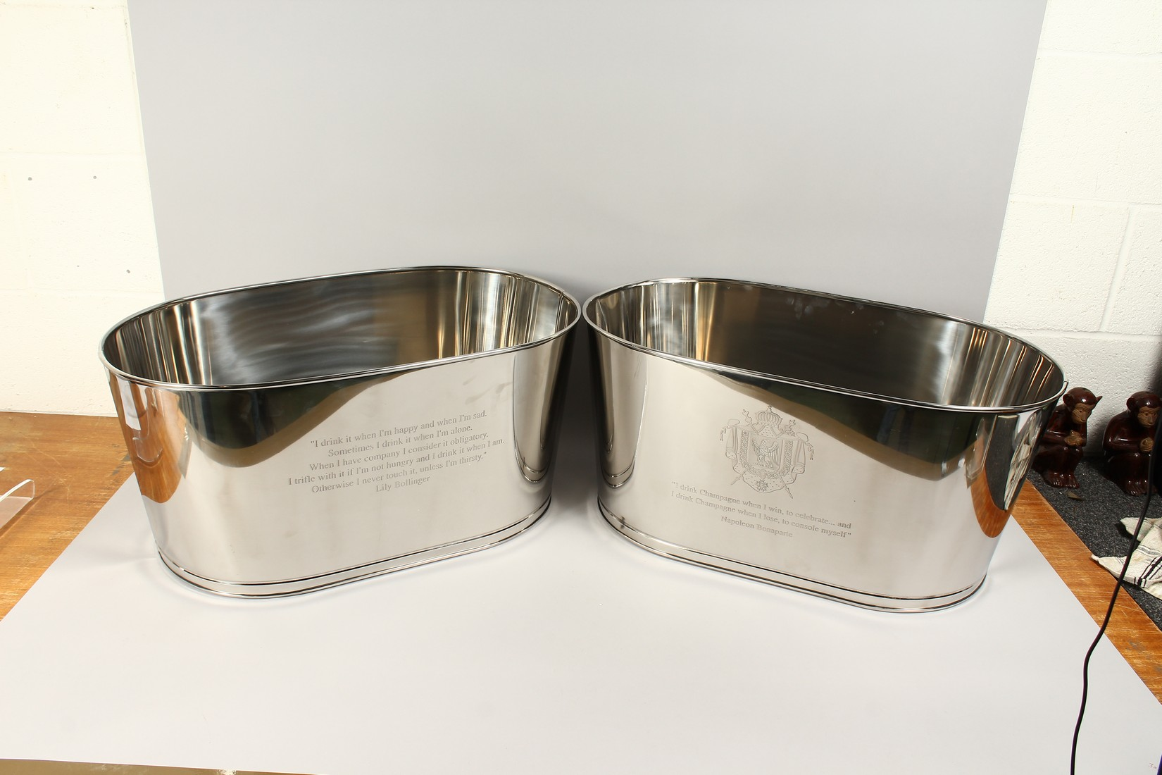 A PAIR OF LILY BOLLINGER COOLERS 24ins long - Image 4 of 4