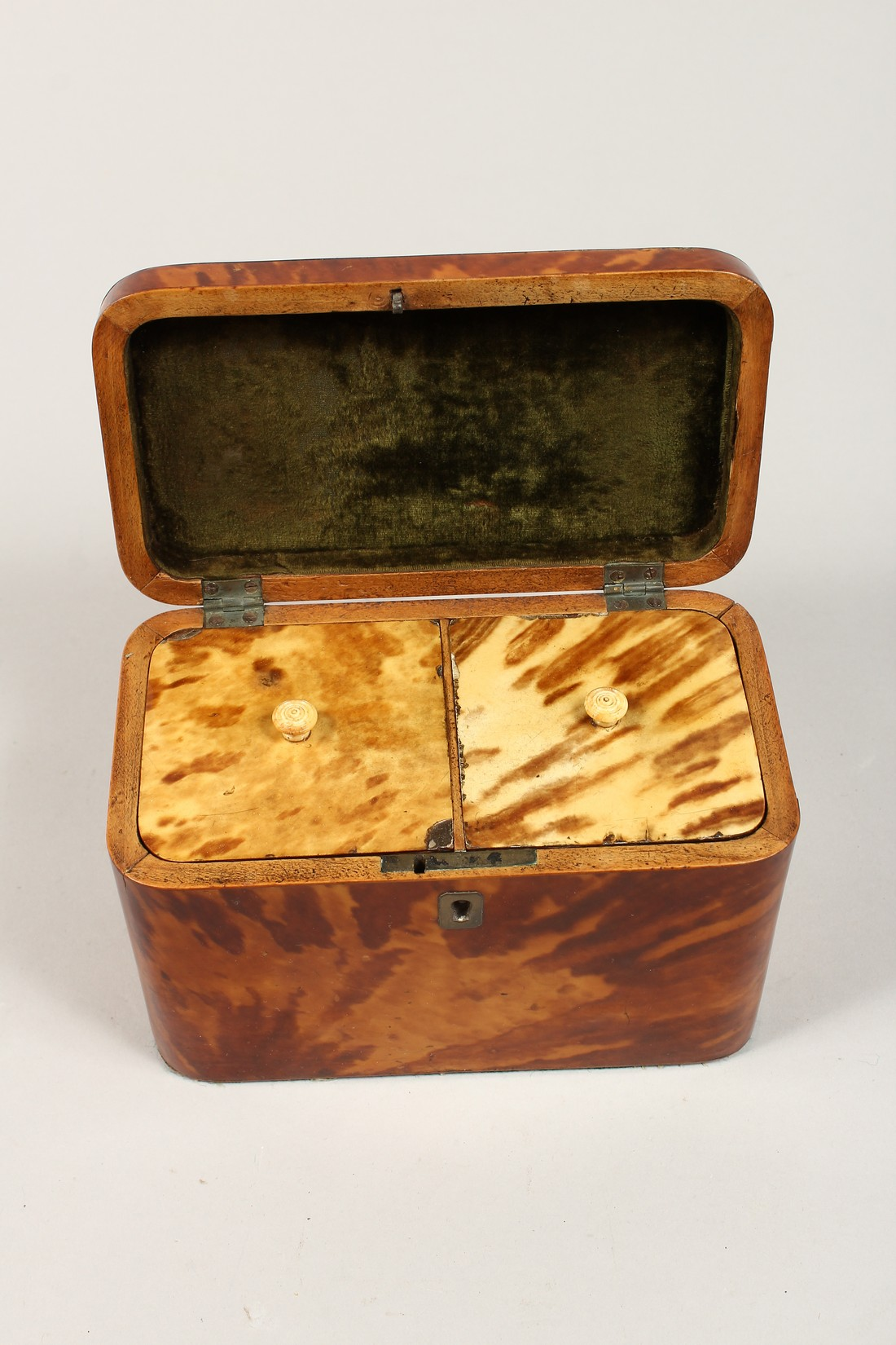 A GOOD REGENCY TORTOISESHELL TWO DIVISION TEA CADDY of rectangular form. 6.75ins high. - Image 7 of 7
