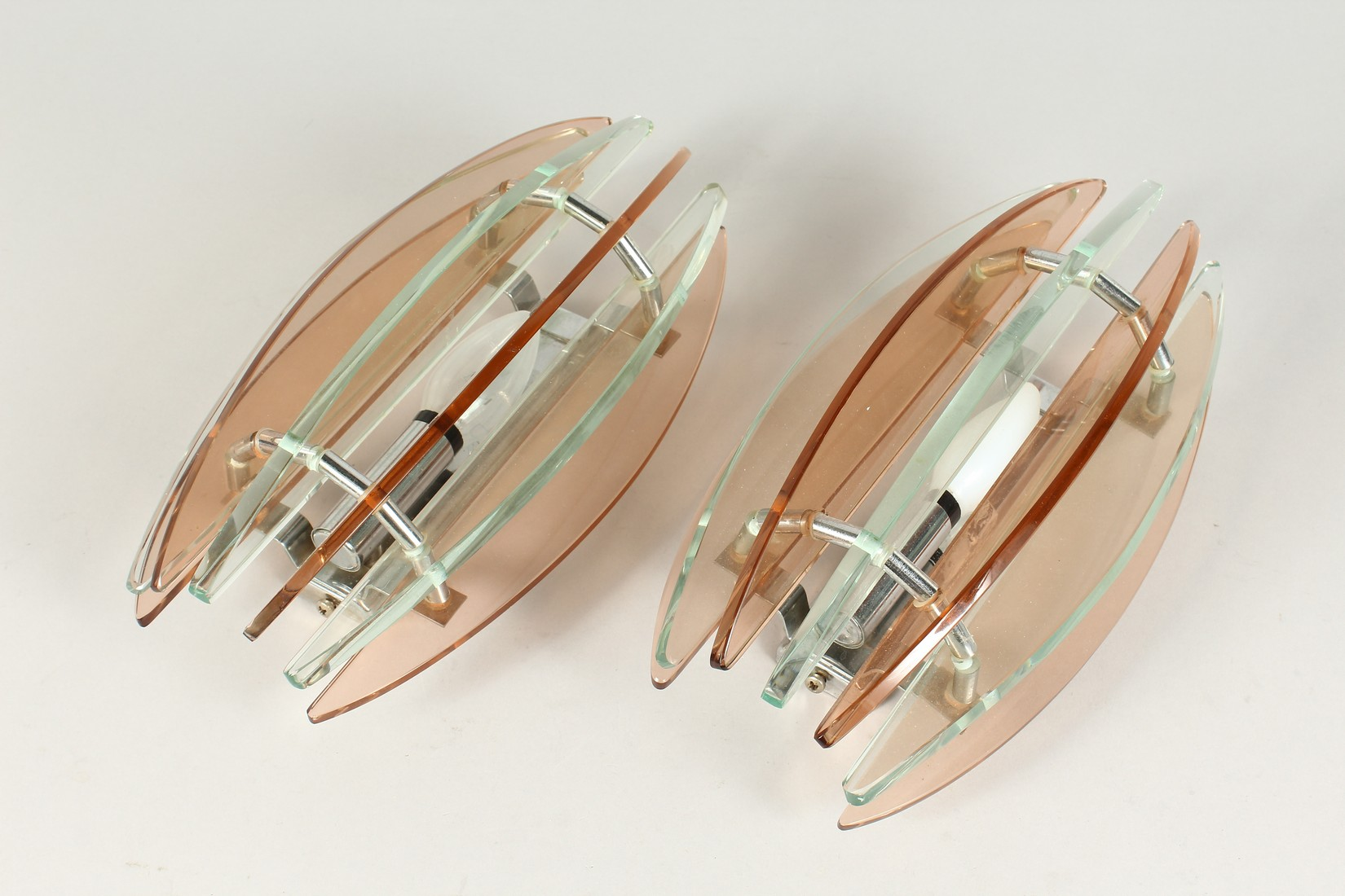 A PAIR OF ART DECO WALL LIGHTS 11.5ins long - Image 2 of 5