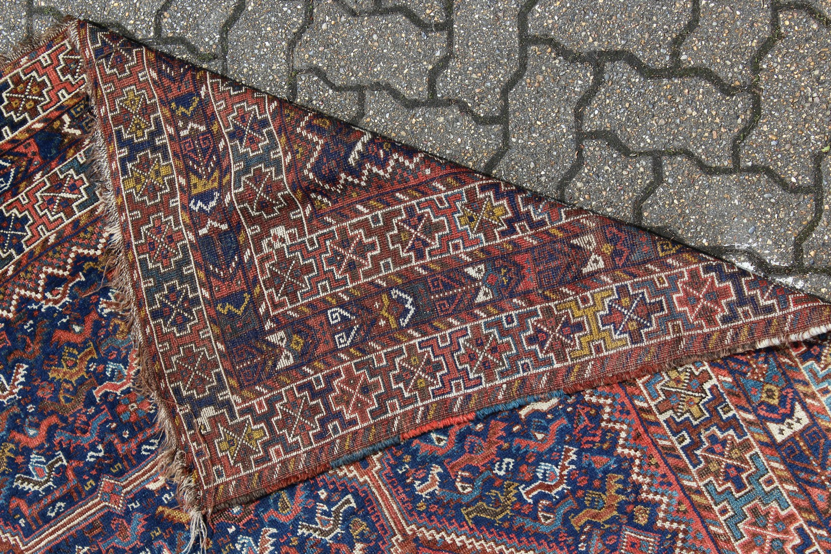 A GOOD PERSIAN CARPET with five large medallions, eight small medallions within a triple row border. - Image 2 of 2