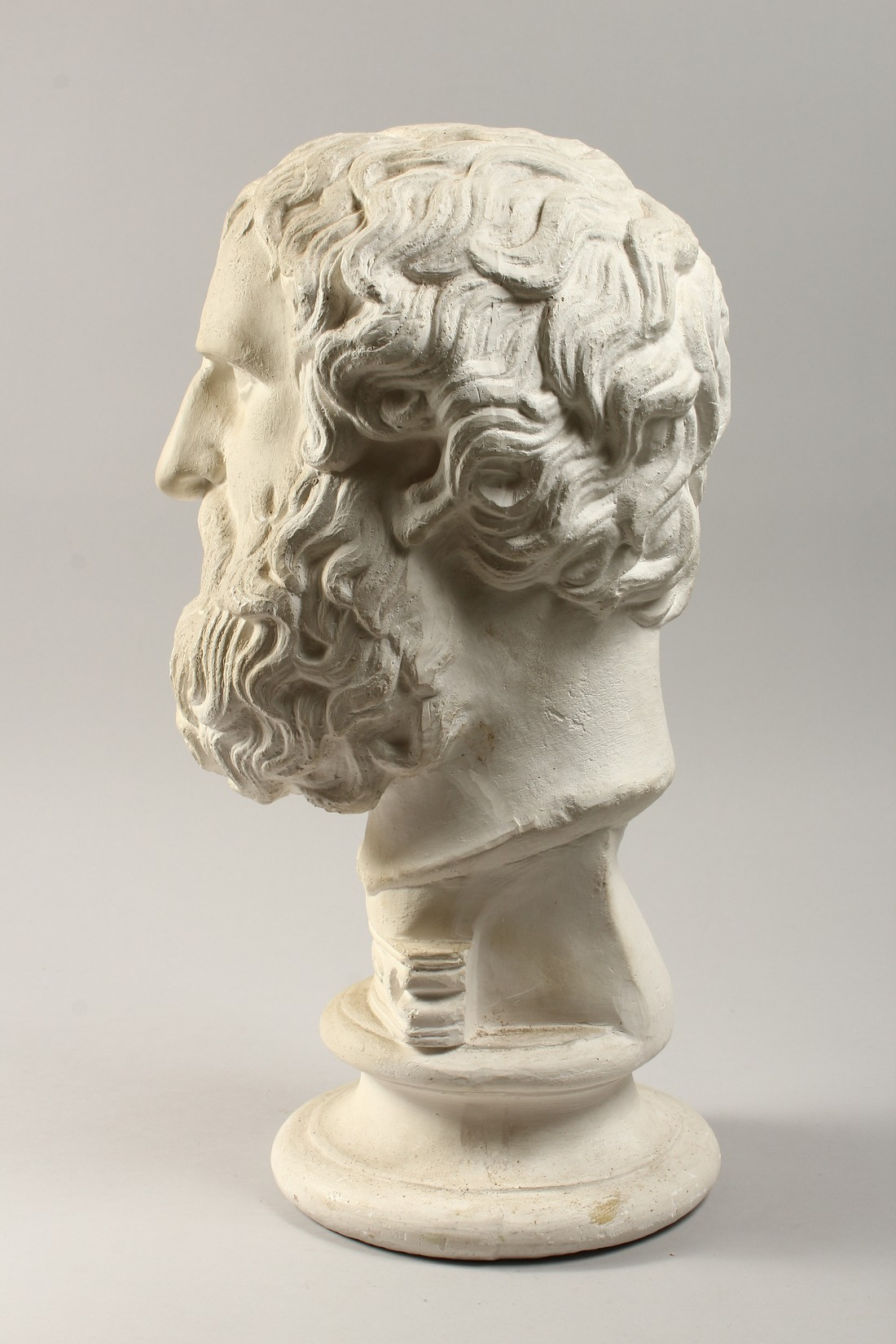AN ANTIQUE PLASTER BUST 19ins high. - Image 2 of 5