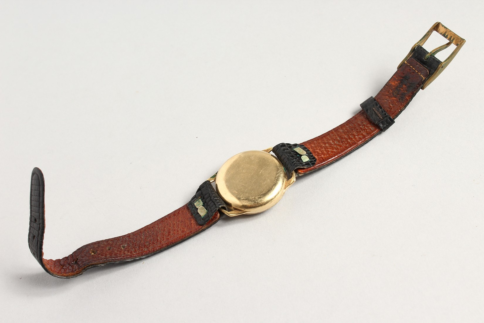 A HARWOOD GOLD WRISTWATCH with leather strap. - Image 3 of 3