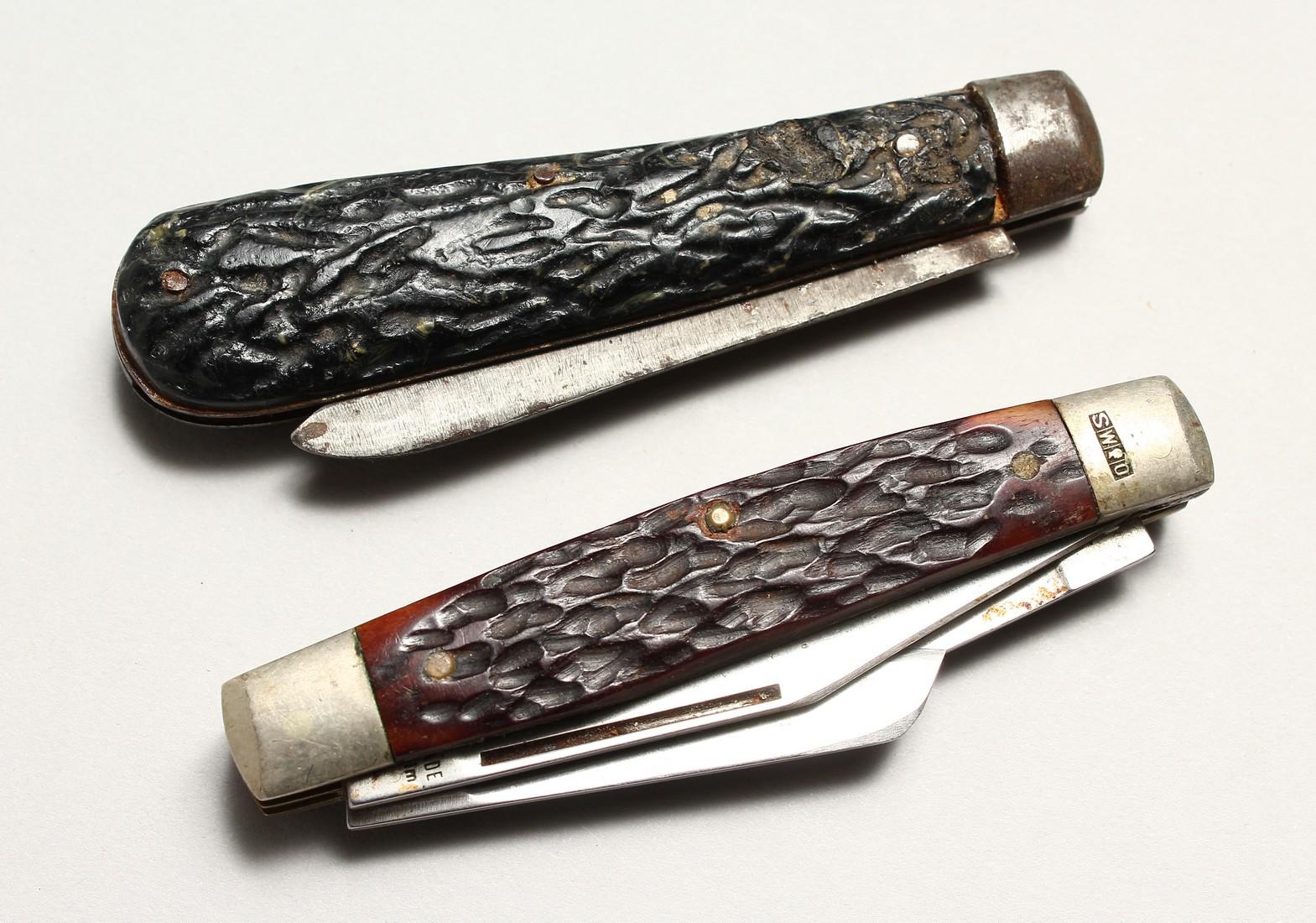 TWO SHEFFIELD WOSTERHOLM PEN KNIVES
