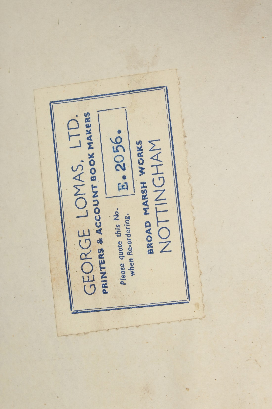 AN OLD UNUSED GOODS RECEIVED BOOK. - Image 4 of 5