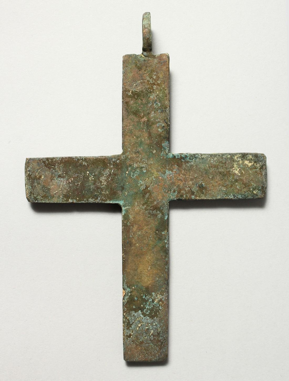 A LARGE METAL ROMAN CROSS. 6ins long - Image 2 of 3