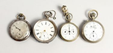 FOUR VARIOUS POCKET AND STOP WATCHES.