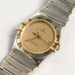 AN OMEGA CONSTELLATION STAINLESS STEEL WATCH, 1392/012.