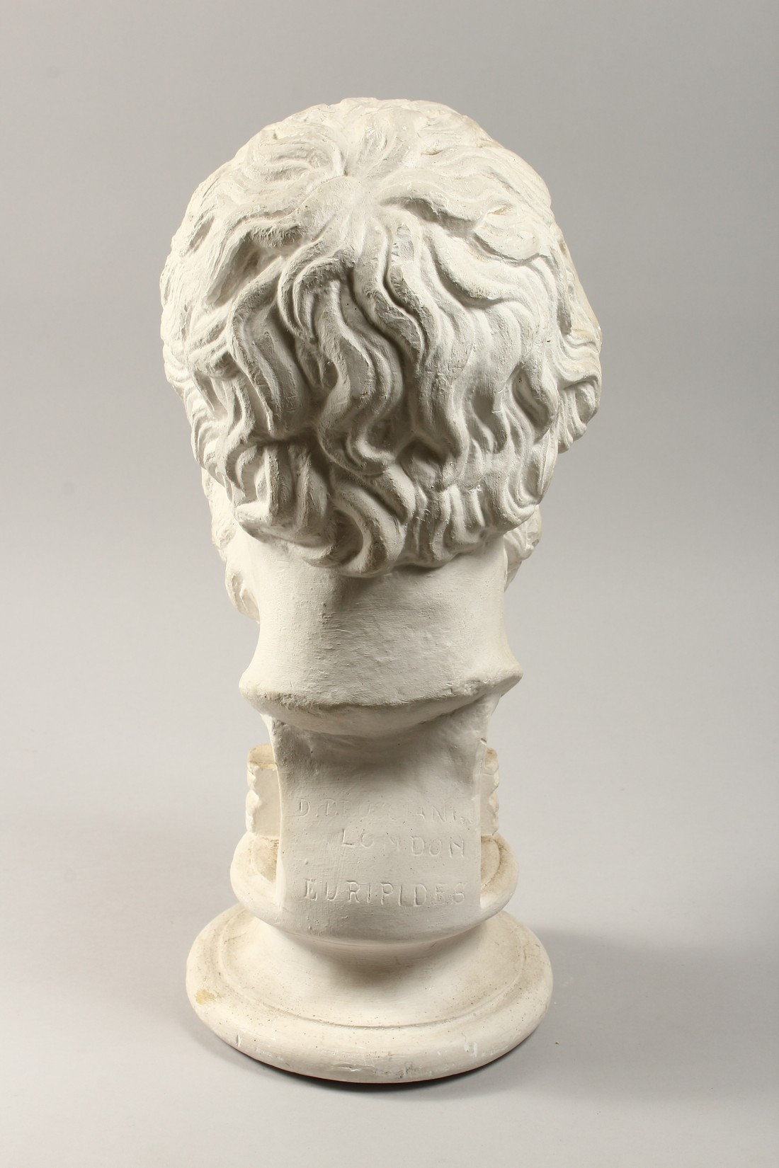 AN ANTIQUE PLASTER BUST 19ins high. - Image 3 of 5
