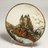 A GOOD METTLACH POTTTERY CHARGER. No.1108 16.5ins diameter