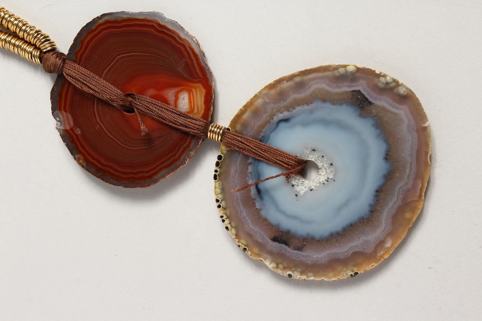 A YVES SAINT LAURENT AGATE NECKLALCE - Image 4 of 4
