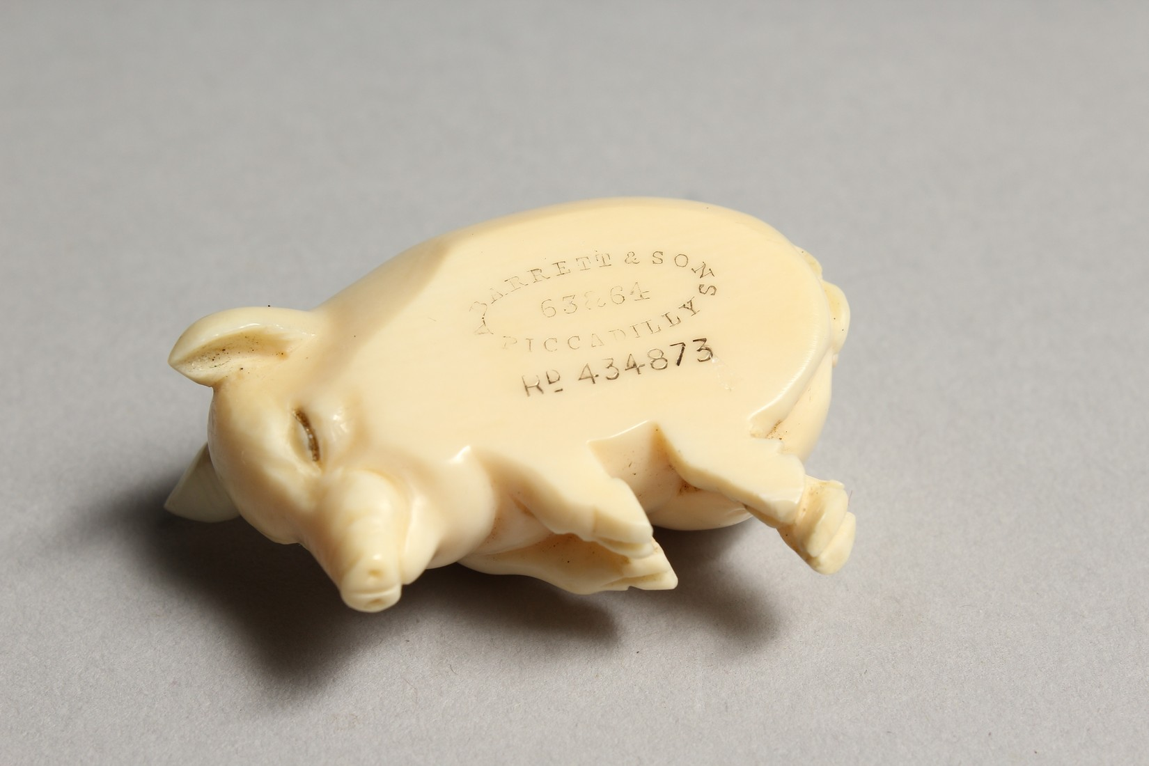AN IVORY LUCKY PIG, GARRET & SONS, PICCADILLY. 1ins. - Image 6 of 7