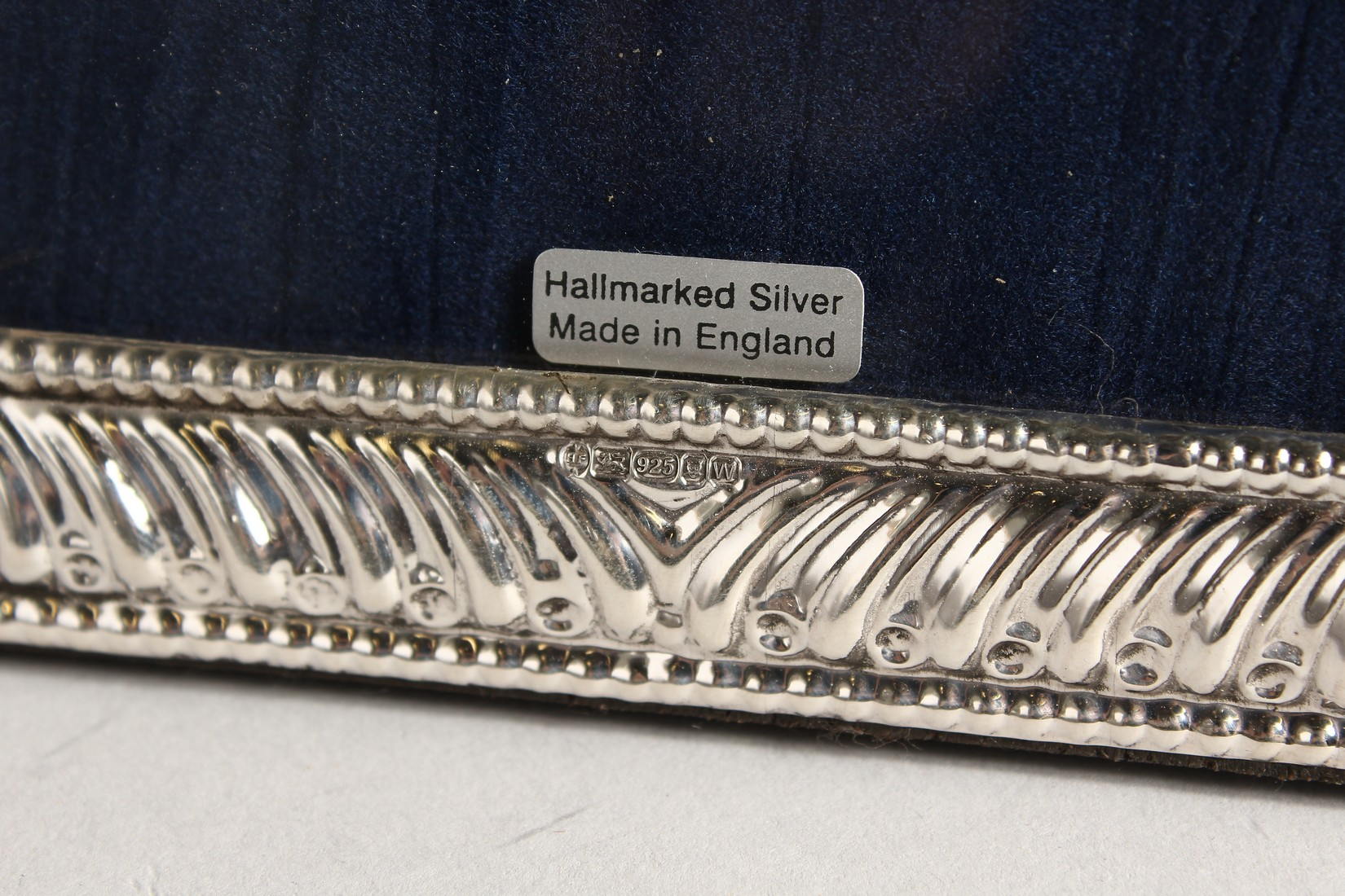A PAIR OF SILVER BEAD EDGE PHOTOGRAPH FRAMES. 7.5ins x 5ins - Image 2 of 3