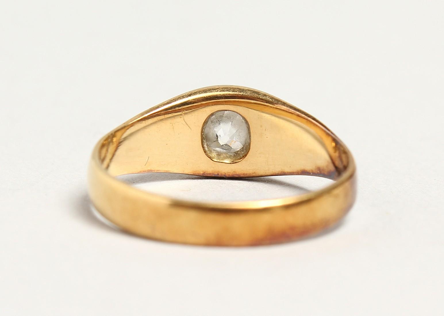 AN 18CT GOLD DIAMOND SET RING. - Image 3 of 4