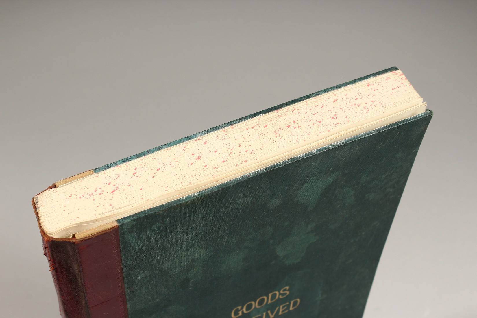 AN OLD UNUSED GOODS RECEIVED BOOK. - Image 2 of 5