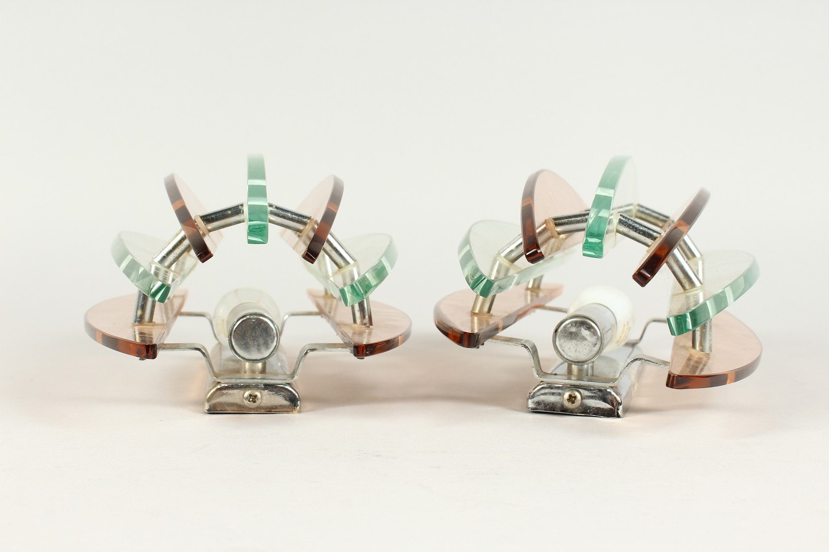 A PAIR OF ART DECO WALL LIGHTS 11.5ins long - Image 3 of 5