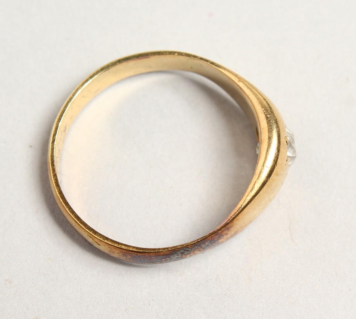 AN 18CT GOLD DIAMOND SET RING. - Image 4 of 4
