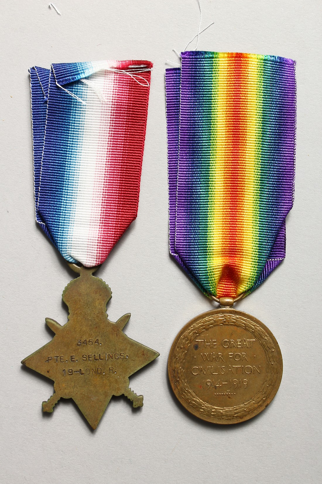 THE MEDALS OF ERNEST SELLINGS, 19 LONDON REG. 3454 610808. - Image 3 of 7
