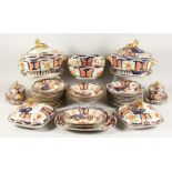 A VERY GOOD 19TH CENTURY PORCELAIN JAPAN PATTERN DINNER SERVICE, possibly COALPORT, comprising; 2