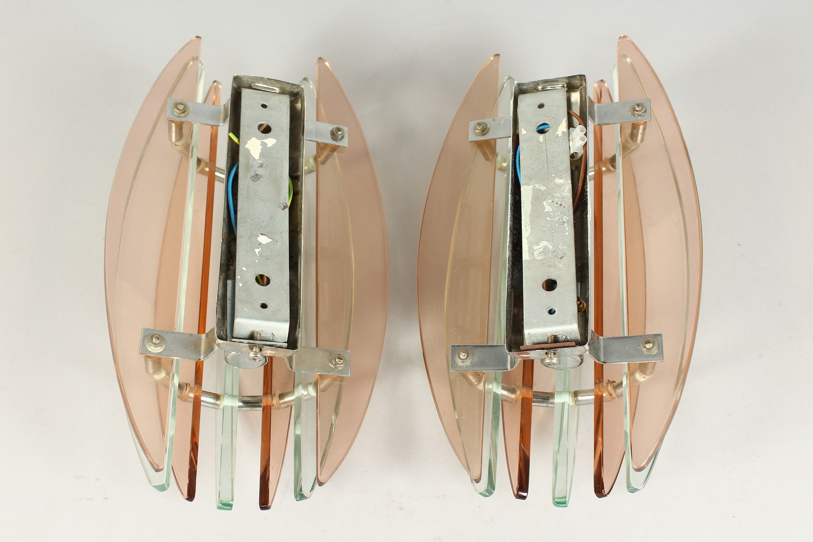 A PAIR OF ART DECO WALL LIGHTS 11.5ins long - Image 4 of 5