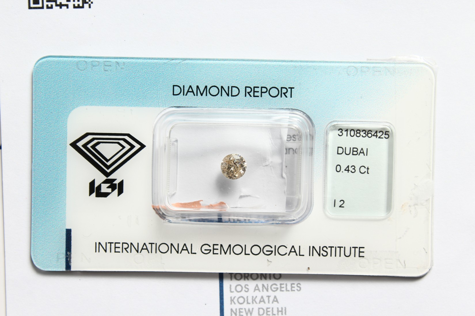 A 0.43 CARAT DIAMOND with certificate - Image 6 of 7