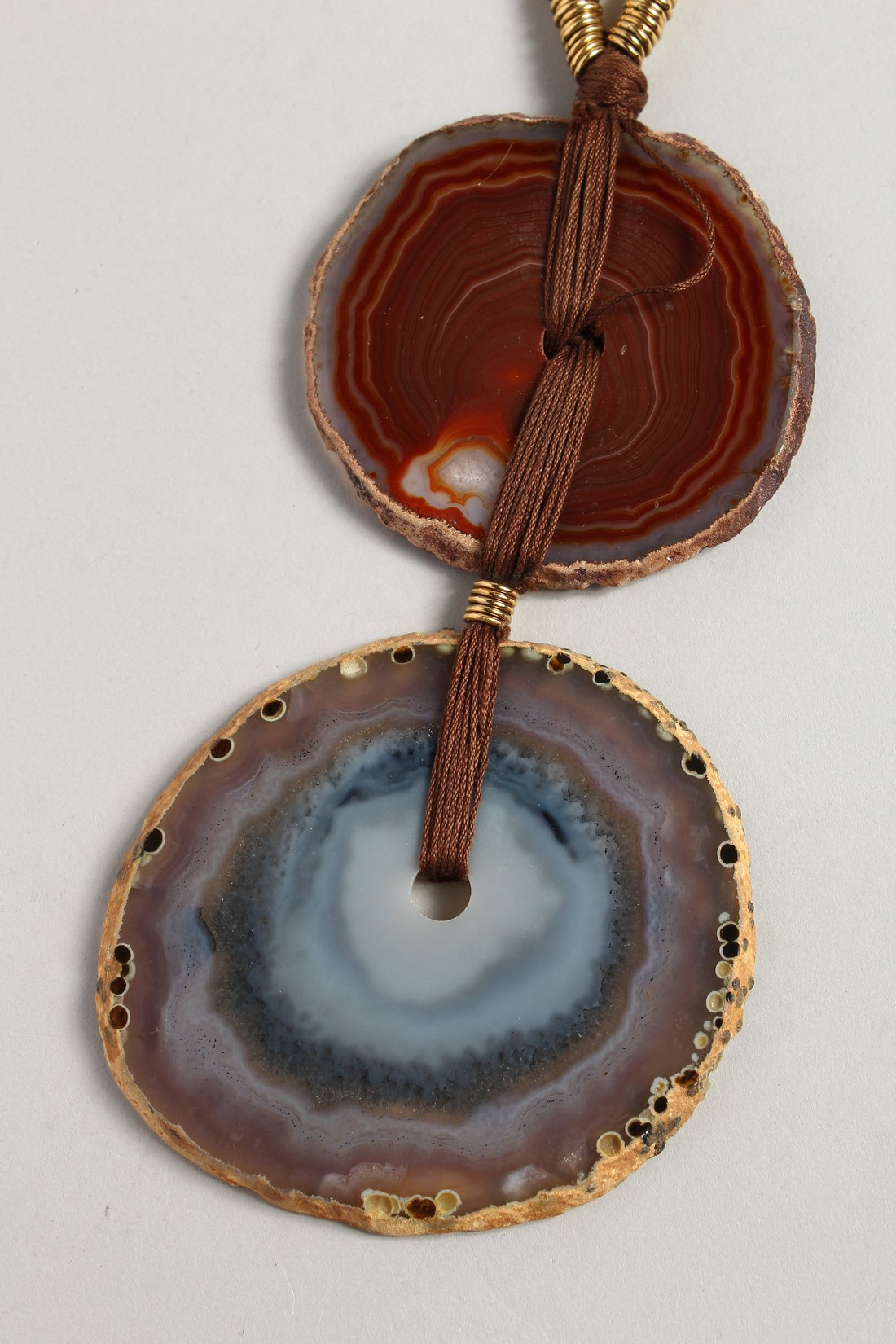 A YVES SAINT LAURENT AGATE NECKLALCE - Image 2 of 4