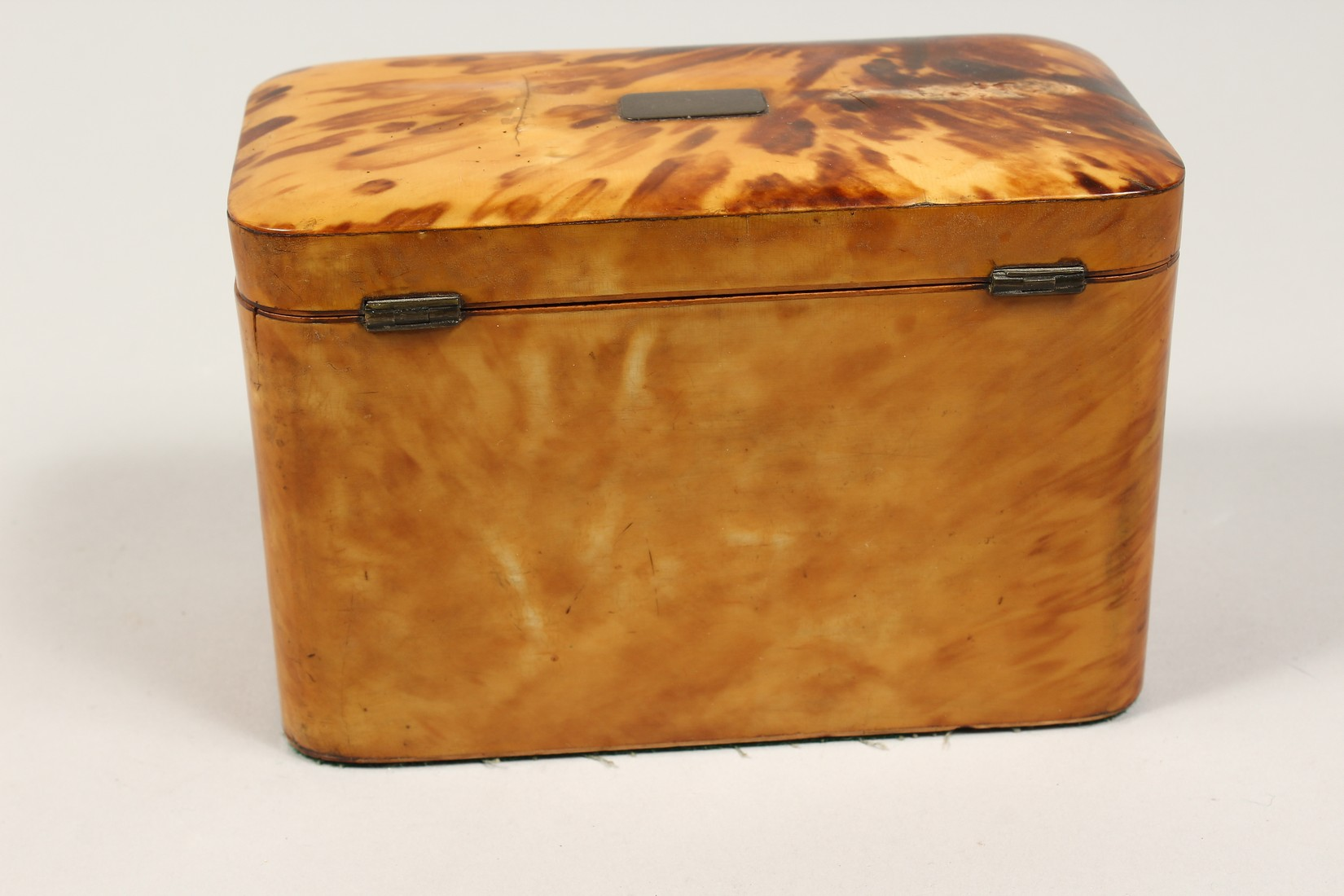 A GOOD REGENCY TORTOISESHELL TWO DIVISION TEA CADDY of rectangular form. 6.75ins high. - Image 3 of 7
