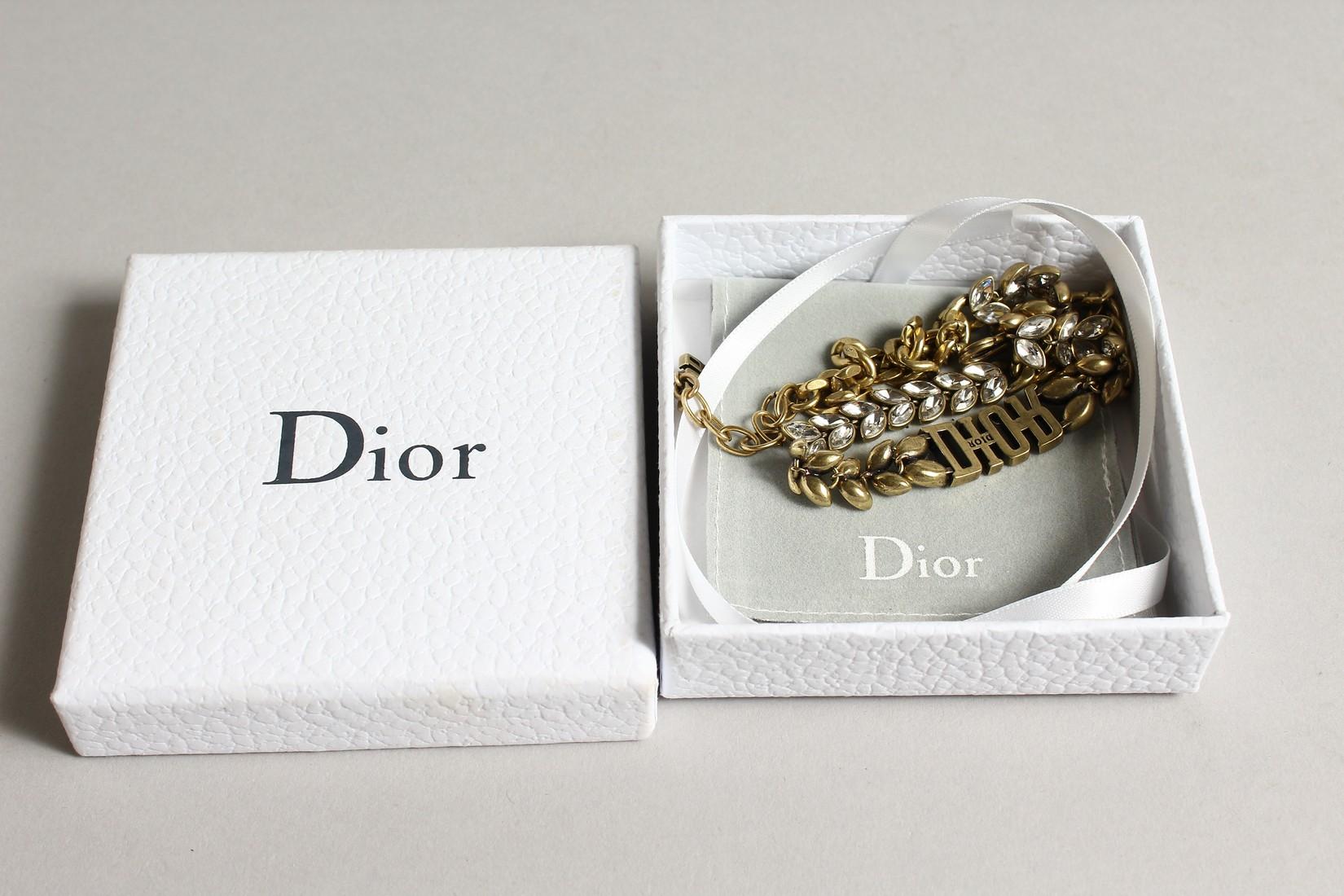 A DIOR PATTERN BRACELET in a 'Dior' bag. - Image 4 of 4