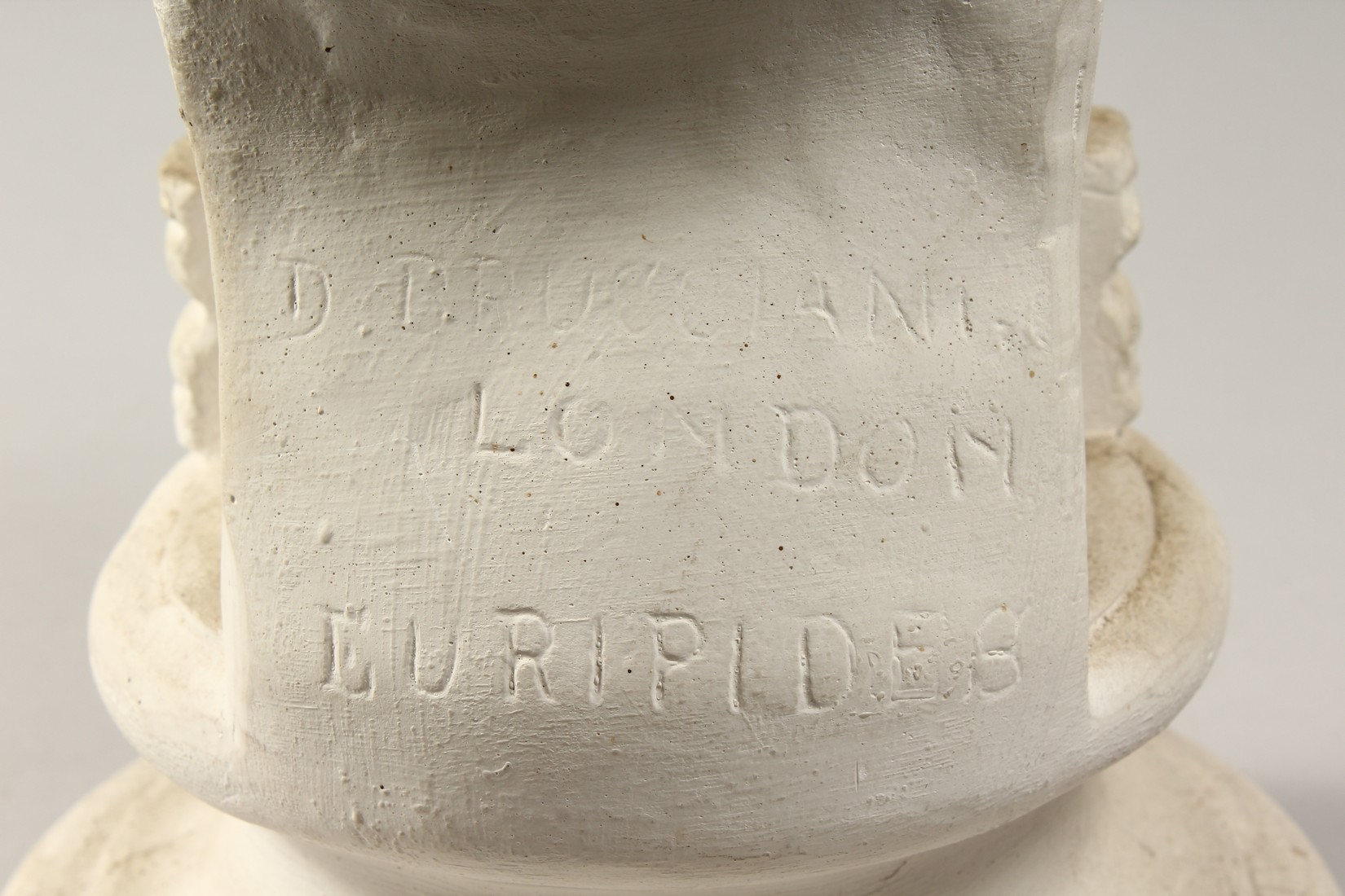 AN ANTIQUE PLASTER BUST 19ins high. - Image 4 of 5