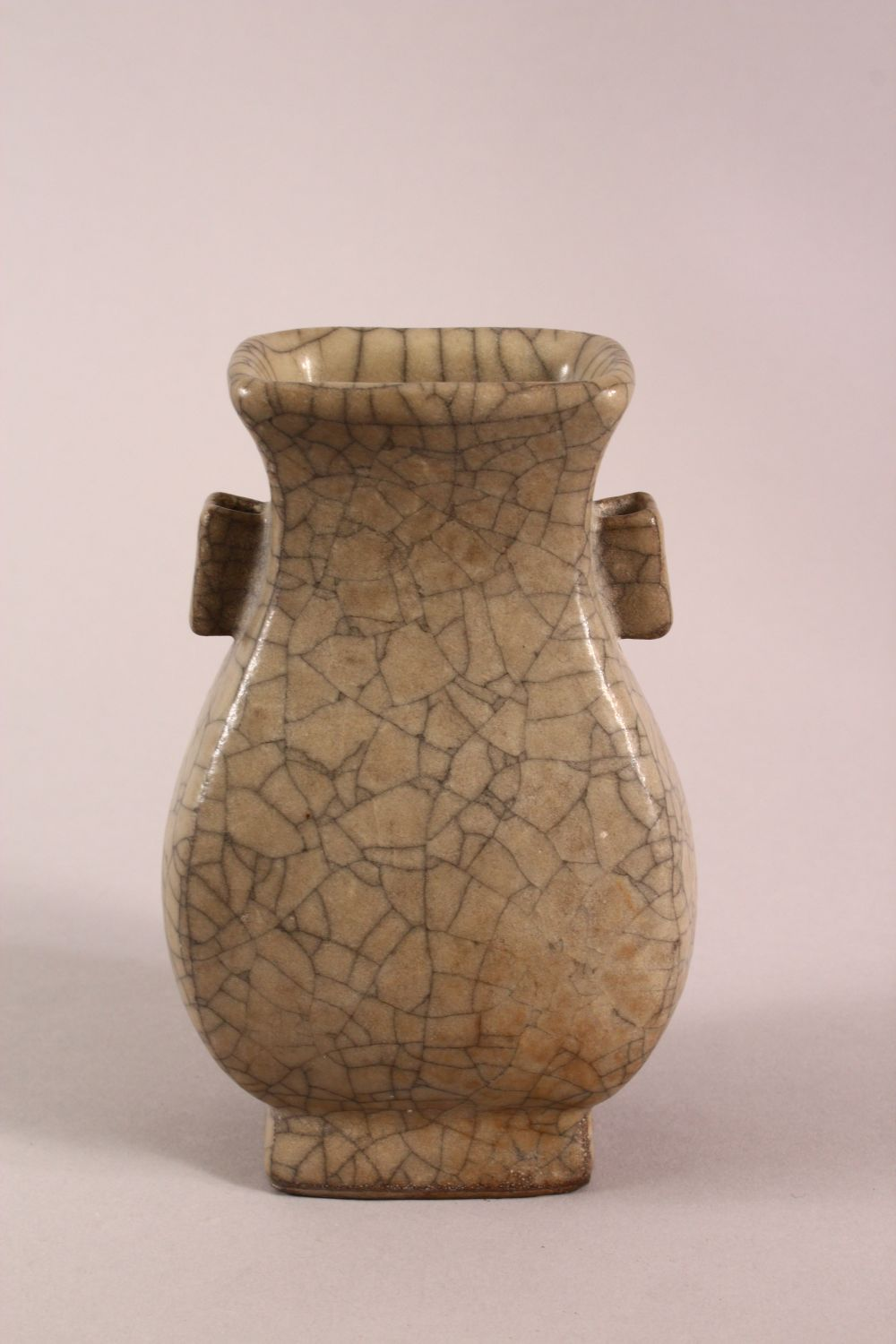 A CHINESE GE WARE TWIN HANDLE ZUN VASE, 15cm high. - Image 3 of 5