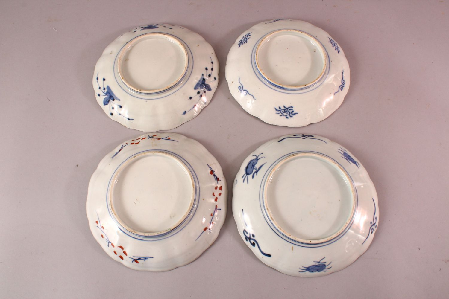 FOUR JAPANESE MEIJI PERIOD IMARI PORCELAIN PLATES, each with varying decoration in typical palate, - Image 2 of 2