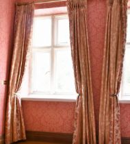 TWO PAIRS OF FULL-LENGTH CURTAINS.