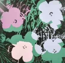 """After Andy Warhol, 'Flower 64', screen print, 35"""" x 35""""."""