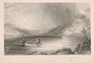 A collection of British topographical steel engravings including 'R. Sands after H. Melville Loch