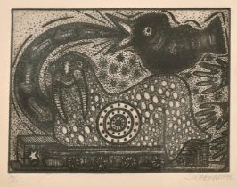 Alfredo Sosabravo (b. 1930), A pair of surreal etchings, signed and dated '92' in pencil,
