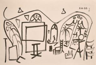After Picasso circa 1955, 'From the Carnet Californie, L'Atelier de la Californie Technik',