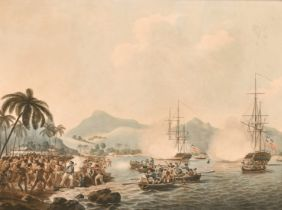 James and John Cleveley, Circa 1789. 'Mort du Capitaine Cook'. A scene depicting the death of