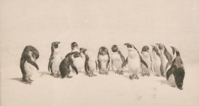 Leonard Robert Brightwell (1889-1983) British, 'Gentleman of the Jury', drypoint etching, signed and