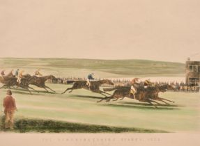 """C. N. Smith after S. Alken, 'The Cambridgeshire Stakes', 14"""" x 20.5"""". and two other prints of"""