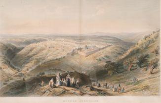 "J. C. Armytage after W. H. Bartlett, 'Modern Jerusalem' a colour print, 9.5"" x 15""."