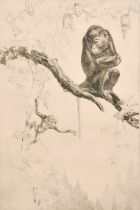 Leonard Robert Brightwell (1889-1983) British, 'No Monkeying', drypoint etching, signed and