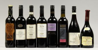 EIGHT BOTTLES OF RED WINE