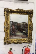 A LARGE AND IMPRESSIVE 19TH CENTURY GILT FRAMED MIRROR